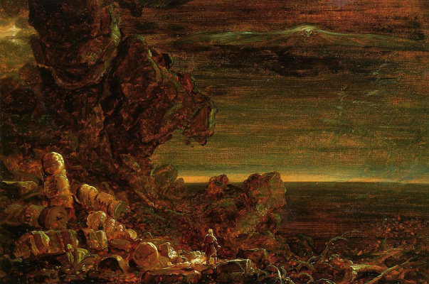 Thomas Cole. The pilgrim at the end of his journey