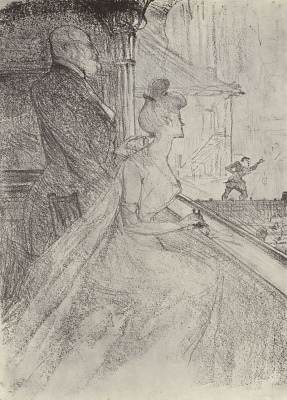 """Henri de Toulouse-Lautrec. Lodge, on the representation of """"Faust"""""""