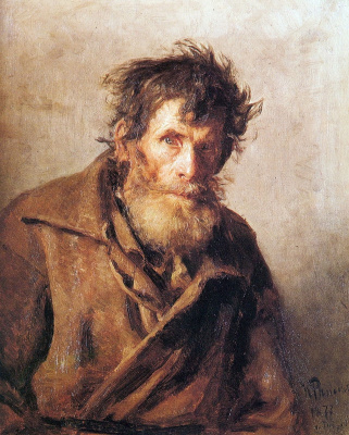 Ilya Efimovich Repin. A peasant from the timid. Etude