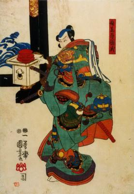 Утагава Куниёси. Микадзуки Осен