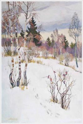 Tetyana Yablonska. Winter landscape