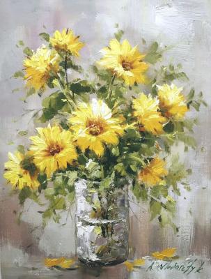 Andrzej Vlodarczyk. Bouquet of yellow chrysanthemums