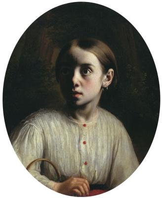 Ivan Fomich (Trofimovich) Khrutsky. Portrait of a girl