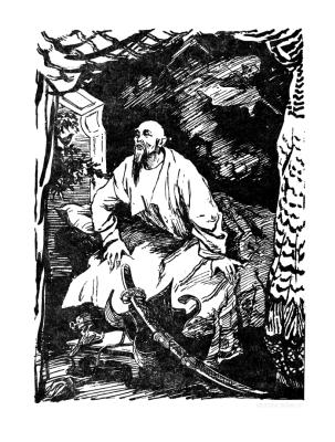 "Нина Алексеевна Носкович (Лекаренко). Illustrations for the tale of H. H. Andersen ""The Nightingale"" III"