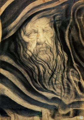 Цыганские Ромоло. Портрет старого мужчины