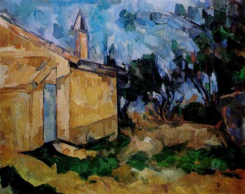 Paul Cezanne. Hut Jourdain