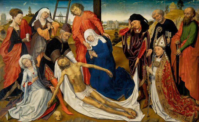 Рогир ван дер Вейден. Оплакивание Христа