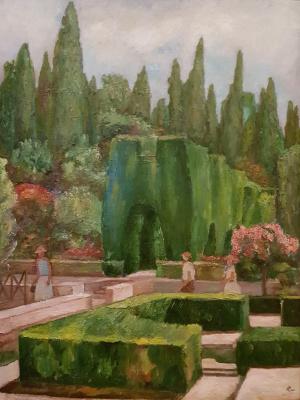 Tatiana Mykolaivna Motherland. Green architecture. Alhambra Gardens