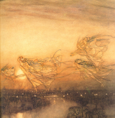 Arthur Rackham. Twilight Dreams