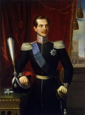 Натале Скьявоне. Портрет великого князя Александра Николаевича