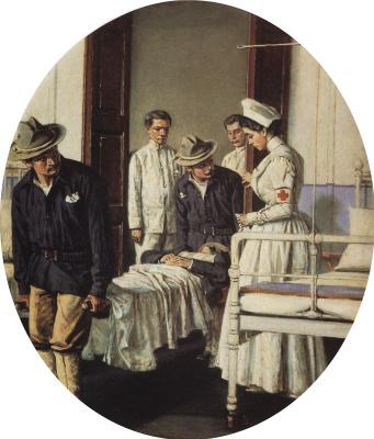"Vasily Vasilyevich Vereshchagin. In the hospital. Series ""Letter to mother"""