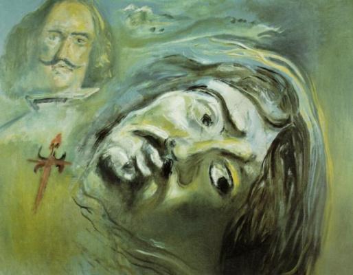Salvador Dali. Velazquez and a figure