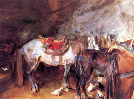 John Singer Sargent. Arab stable