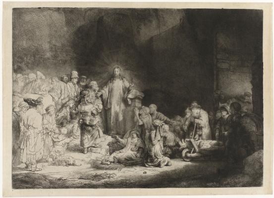 Христос, исцеляющий больных (Лист на сто гульденов)