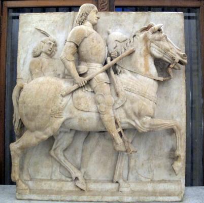 Eusebio da Caravaggio. Equestrian monument of Roberto Malatesta