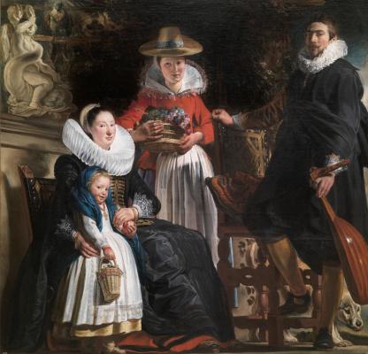 Якоб Йорданс. Self-portrait with family