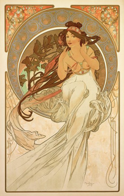 "Alphonse Mucha. Music. From the series ""Art"""