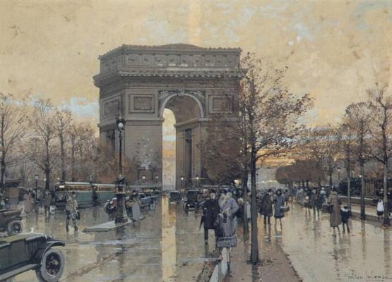 Эжен Галиен-Лалу. Триумфальная арка в Париже