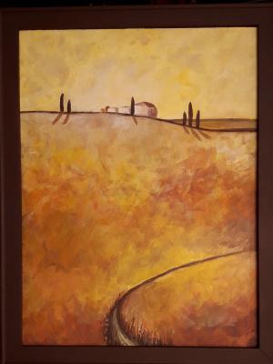 Елена. Landscape at sunset
