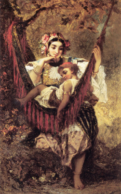 Нарсис Виржилио Диас де ла Пёнья. Мать оберегает ребенка