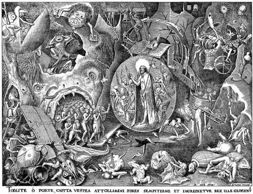 "Pieter Bruegel The Elder. The series ""the Seven virtues"". Christ in Limbe"