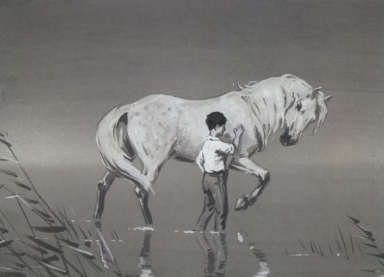Аркадий Александрович Пластов. Мальчик с лошадью