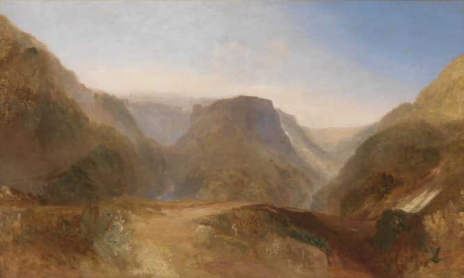 Joseph Mallord William Turner. The Italian landscape. Perhaps Civita di Bagnoregio
