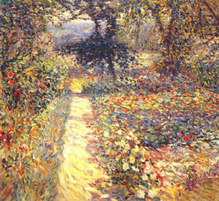 Appman Artist. Footpath in the garden
