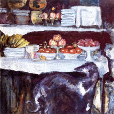 Pierre Bonnard. Still life with Greyhound
