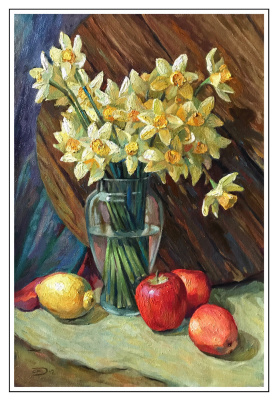 Alexander Dmitrievich Svistunov. Daffodils with fruits
