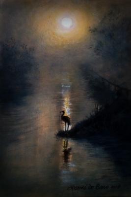 Cristina de biasio. Heron in the fog
