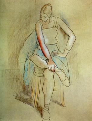 Пабло Пикассо. Сидящая балерина (Ольга Хохлова)
