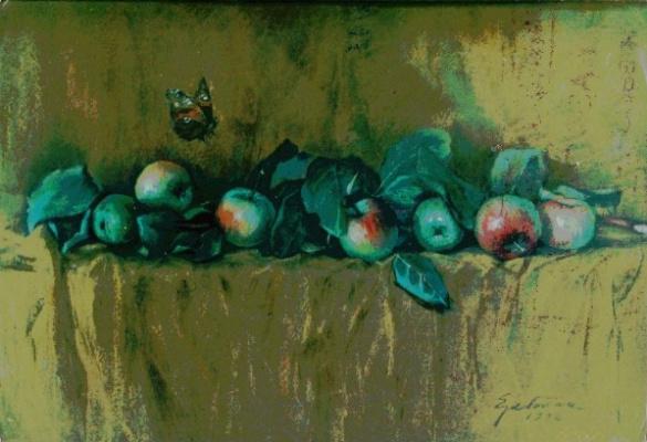 Дмитрий Рембрандтов. Натюрморт с яблоками
