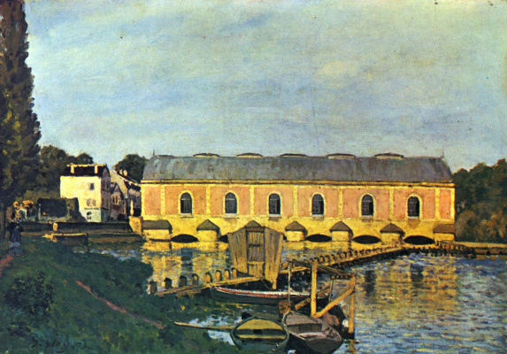 Alfred Sisley. A pumping station at Marly