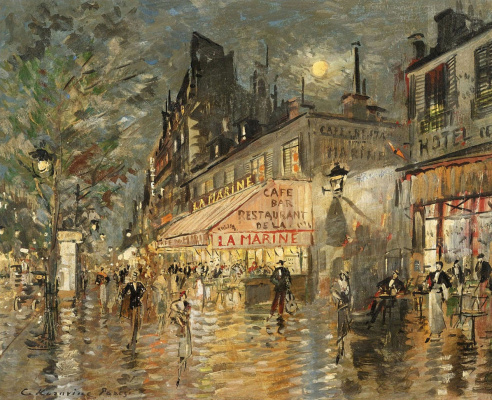 "Konstantin Korovin. Cafe ""La Marin"". Paris"