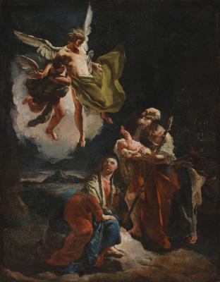 Giovanni Battista Tiepolo. Rest on the way to Egypt