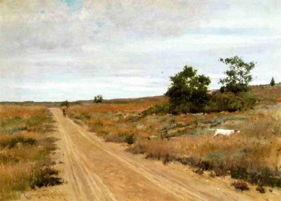 William Merritt Chase. Hunting game in the hills Shinnecock