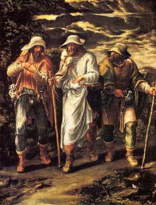Lelio Orsi. On the road to Emmaus