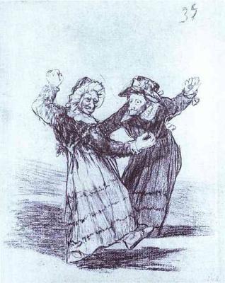 Франсиско Гойя. Две танцующие старые подруги
