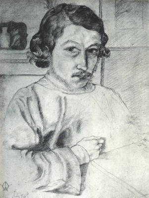 William Morris. Self-portrait