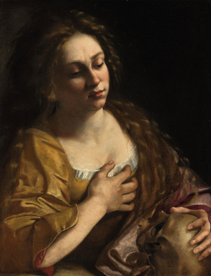 Artemisia Gentileschi. St. Mary Magdalene in Penance