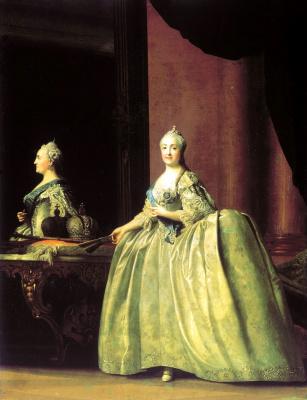 Эриксен, Вигилиус. Портрет Екатерины II перед зеркалом