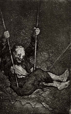 Francisco Goya. Man on a swing