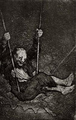 Francisco Goya. Man on a swing