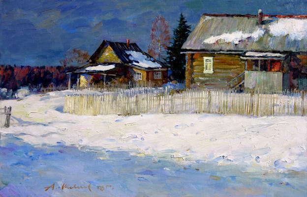Alexander Victorovich Shevelyov. Spring in Golocalise. oil on cardboard 34 # 50 cm 2008