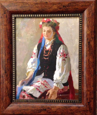 "Нина Ивановна Гаврилова. ""Украинка"", 1960-е гг., к./м. 38,5х30"