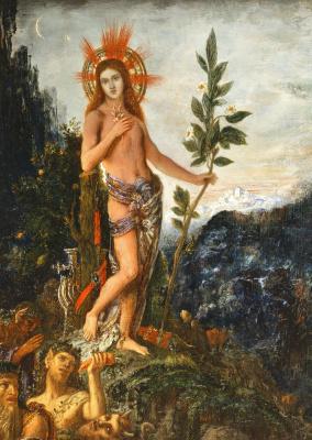 Gustave Moreau. Apollo accepting the shepherds sacrifice