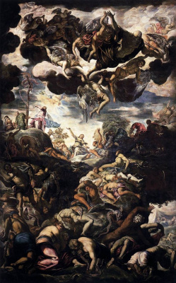 Jacopo (Robusti) Tintoretto. The Miracle of the Brazen Serpent