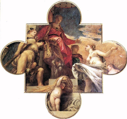 Paolo Veronese. Venice receives homage from Hercules and Ceres