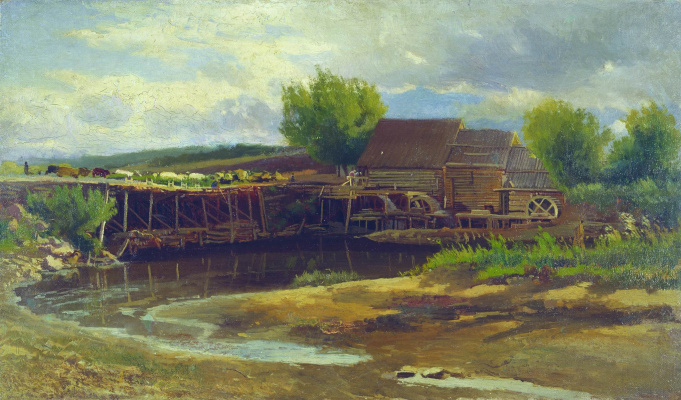 Konstantin Makovsky. Landscape with a lake
